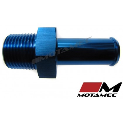 Motamec 3/8 NPT Male to AN8 1/2in BSP Push Straight Adapter Alloy Fitting