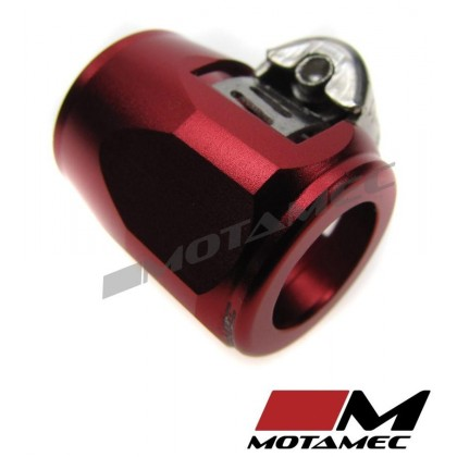 Motamec 15mm AN6 Fuel Hose Clamp End Finisher Hex Head Jubilee Alloy RED