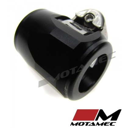 Motamec 15mm AN6 Fuel Hose Clamp End Finisher Hex Head Jubilee Alloy BLACK