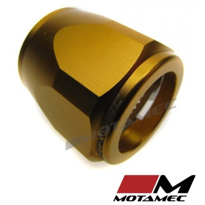 Motamec 24mm AN12 Fuel Hose Clamp End Finisher Hex Head Jubilee Alloy GOLD
