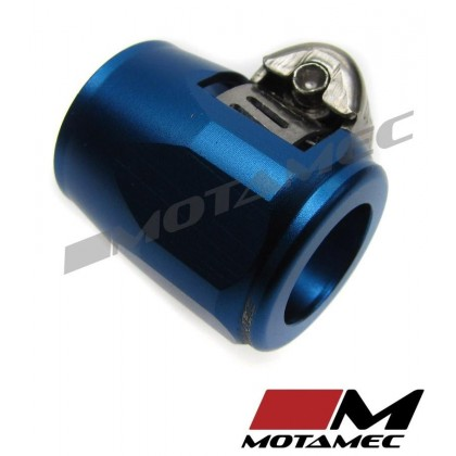 Motamec 15mm AN6 Fuel Hose Clamp End Finisher Hex Head Jubilee Alloy BLUE