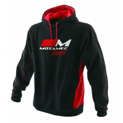 Motamec Racing Hoody - Black And Red Hoodie