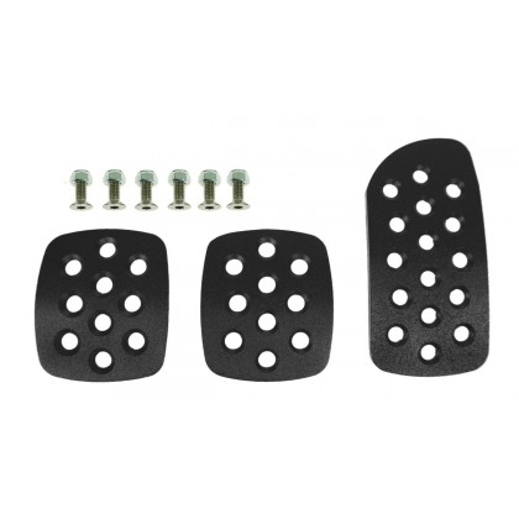 Motamec Alloy Pedals Extension Plates Set - Aluminum Pedal Pad Kit - BLACK