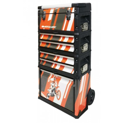 Motamec Modular Tool Box Trolley Mobile Cart Cabinet Chest KTM Motocross MX C41H