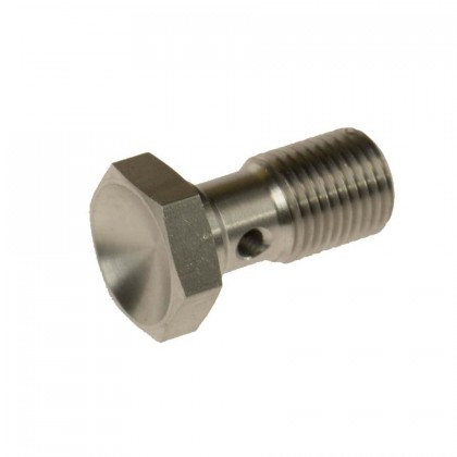 Motamec M10 x 1mm 20mm Long Stainless Steel Banjo Bolt Brake Fitting