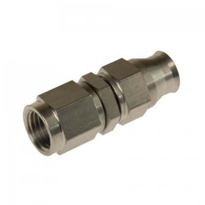 Motamec -4AN 7/16 UNF Female Straight Swivel Stainless Steel Brake Fitting