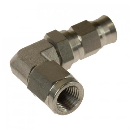 Motamec -3 AN 3/8 UNF Female 90 Degree Swivel Stainless Steel Brake Fitting