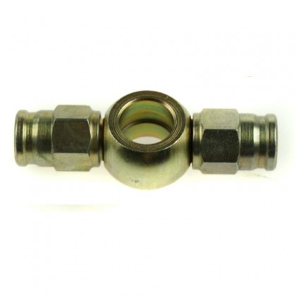 Motamec Brake Fitting Twin Straight Banjo 3/8 or M10 Bolt > -3 Teflon Hose