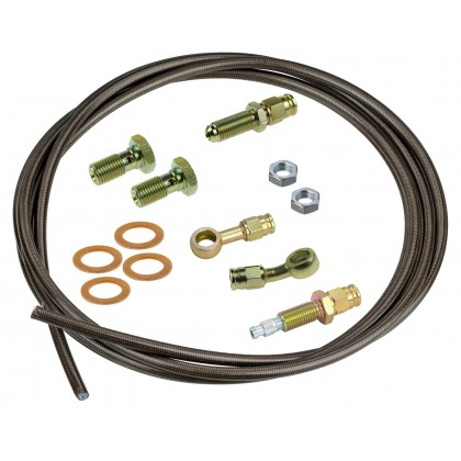 Motamec Hydraulic Clutch Line Kit with Bleed - BANJO FITTINGS  Aeroquip Pipe
