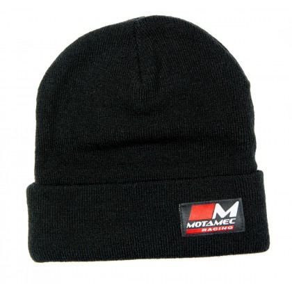 Motamec Racing Fleece Hat Knitted Beanie - Plain Black