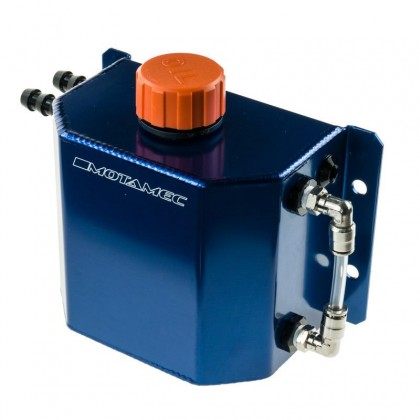 Motamec Alloy 1 Litre Oil Catch Tank with Breather Cap Anodized BLUE
