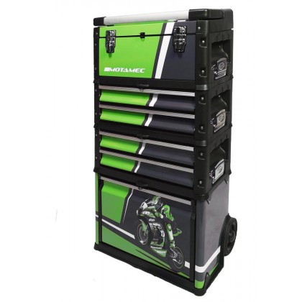 Motamec Modular Tool Box Trolley Mobile Cart Cabinet Kawasaki Racing SBK C41H