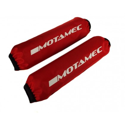 """Motamec Spring Cover Coilover Protector Shock Bag  RED 16"""" / 406mm Long - Pair"""