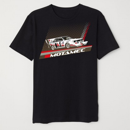 Motamec Pikes Peak Audi Quattro S1 Group B Rally Car T-Shirt - Black