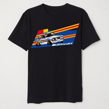 Motamec Escort Mk2 Rothmans Rally Car T-Shirt - Black