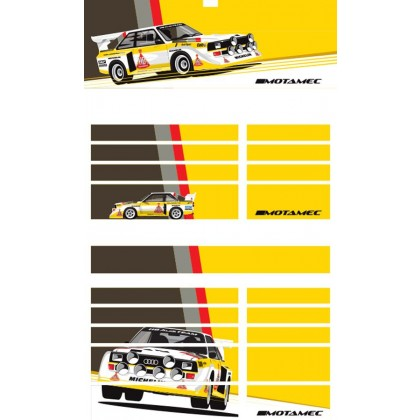 Motamec PRO94 Tool Chest Audi Quattro S1 Rally Car Magnetic Sticker Decal Set