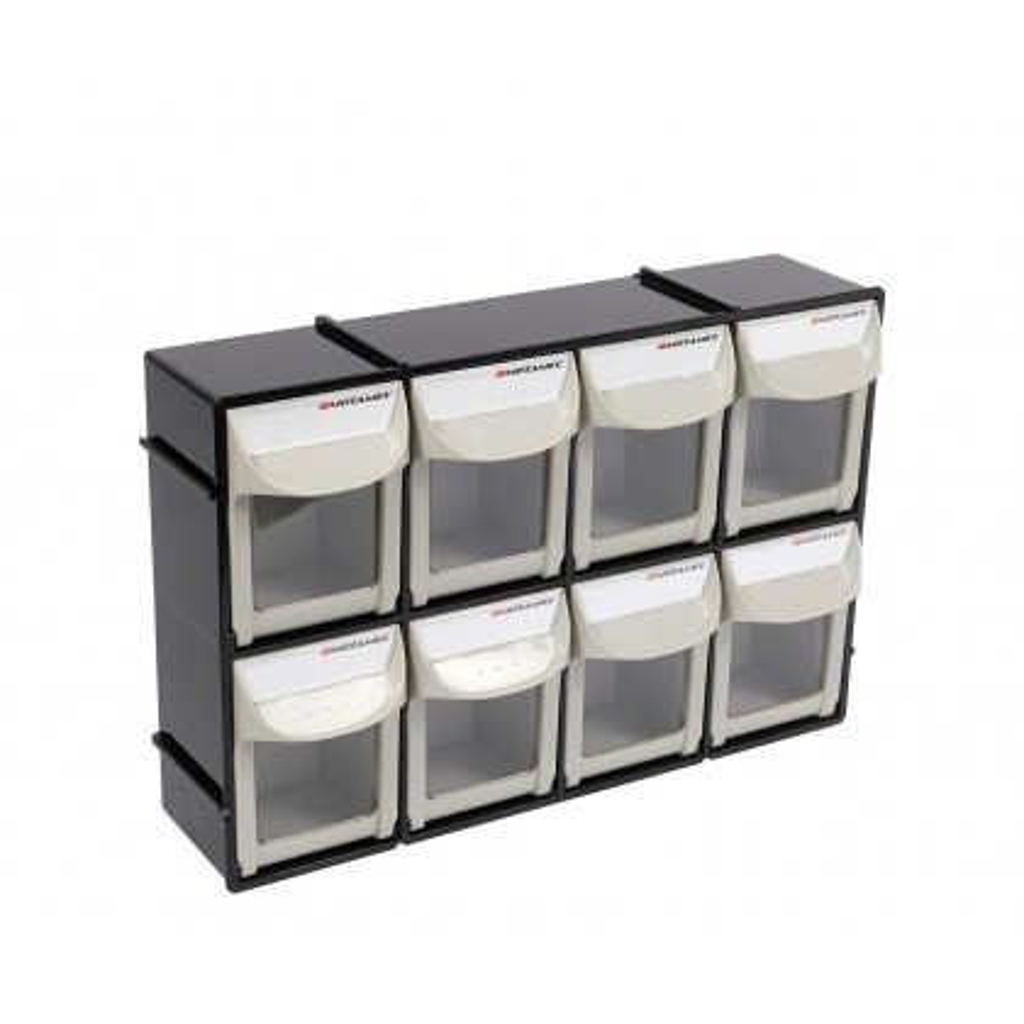 Motamec Modular Tilt Bin System Parts Storage Wall Compartment Bins - Small 4x2
