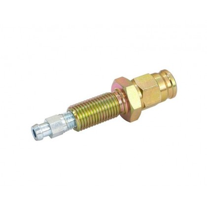 Motamec Male Bulkhead Brake Fitting with Bleed Nipple 3/8 UNF > -3 AN Teflon