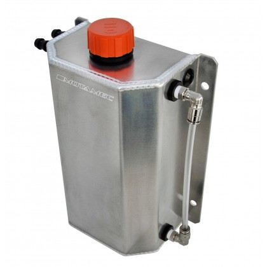 Motamec Alloy 2 Litre Oil Catch Tank with Breather Cap Anodized PLAIN
