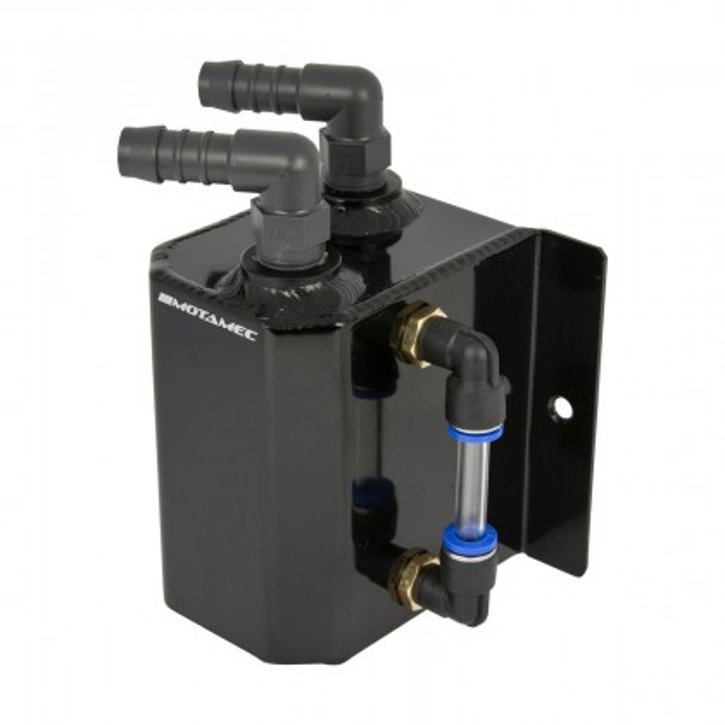 Motamec Alloy 0.5L Small Oil Catch Tank Anodized BLACK