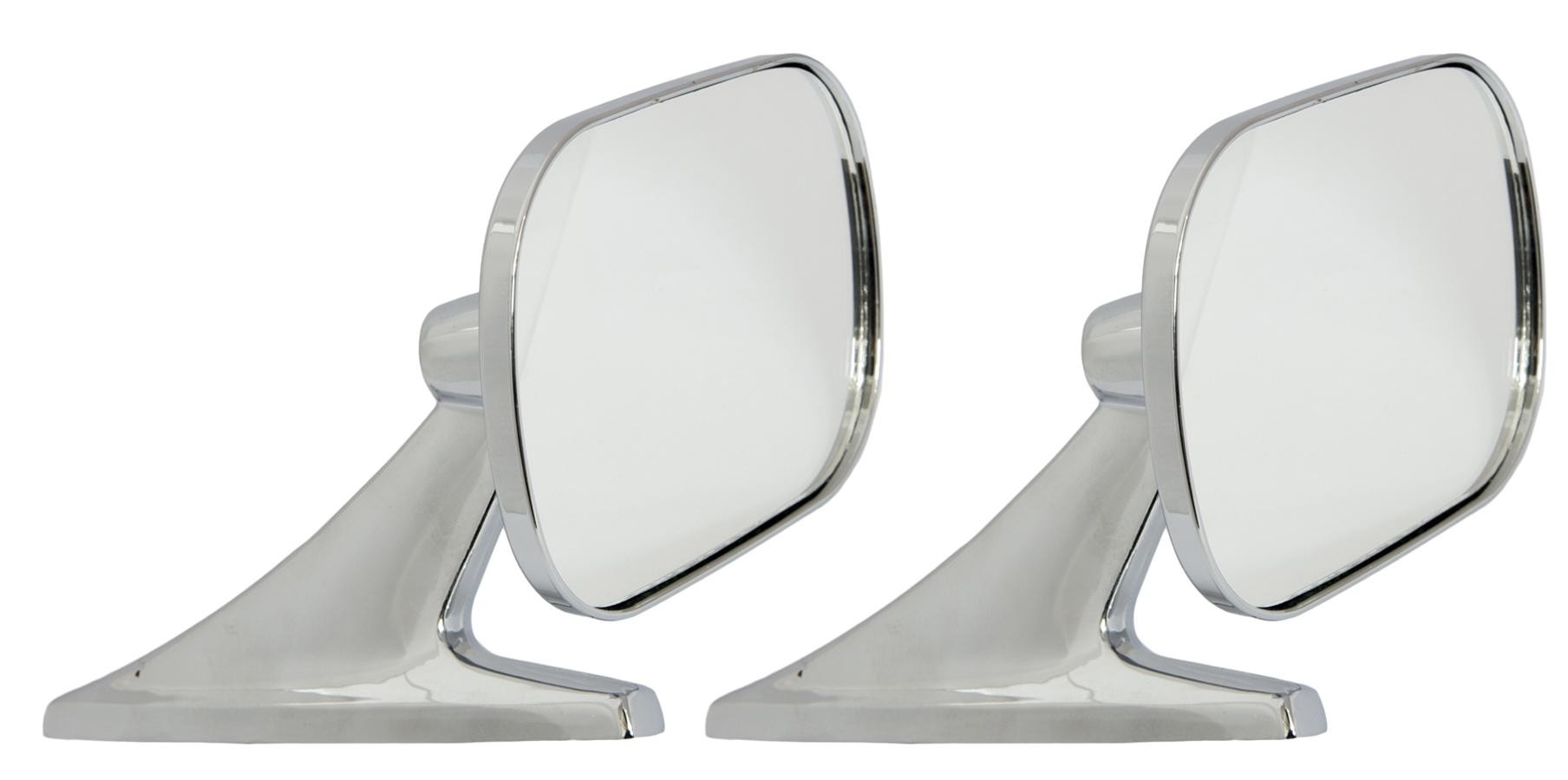 Motamec Classic Car 10 Side Door Wing Mirror X2 Chrome